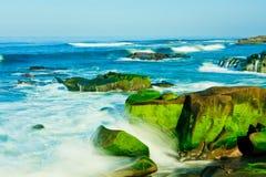 Spiaggia di Windansea a La Jolla Fotografie Stock