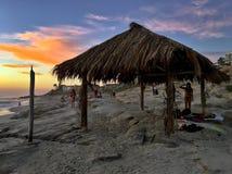 Spiaggia di Windansea a La Jolla, California Fotografie Stock