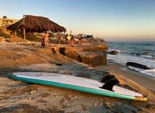Spiaggia di Windansea a La Jolla, California, U.S.A. Fotografia Stock Libera da Diritti