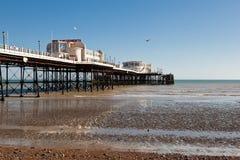 Spiaggia di Worthing, West Sussex, il 17 marzo 2014 Immagini Stock