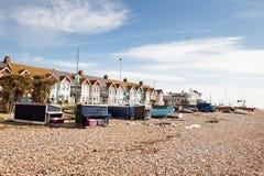 Spiaggia di Worthing, West Sussex, Regno Unito Immagine Stock Libera da Diritti