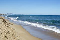 Spiaggia di Xeraco, Valencia, Spagna immagine stock libera da diritti