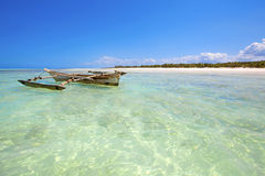 Spiaggia di Zanzibar Immagini Stock