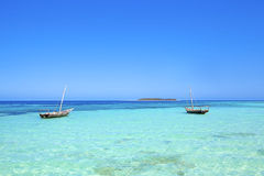 Spiaggia di Zanzibar immagine stock