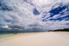 Spiaggia di Zanzibar Immagini Stock Libere da Diritti