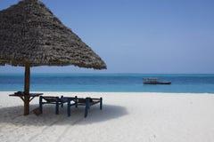 Spiaggia di Zanzibar Fotografia Stock Libera da Diritti