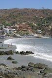 Spiaggia di Zihuatanejo Fotografia Stock