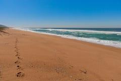 Spiaggia di Zimbali Fotografie Stock Libere da Diritti