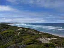 Spiaggia a distanza Fotografia Stock Libera da Diritti