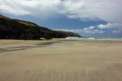 Spiaggia dopo la tempesta, isola di Balthos di Lewis Scotland Fotografia Stock Libera da Diritti