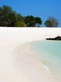 Spiaggia dorata della sabbia Fotografia Stock Libera da Diritti