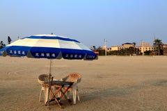 Spiaggia dorata nella città di Beihei, il Guangxi, Cina Immagine Stock