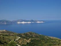 Spiaggia dorata xi nell'isola di kefalonia in Grecia Immagine Stock