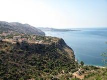 Spiaggia dorata xi nell'isola di kefalonia in Grecia Fotografia Stock Libera da Diritti