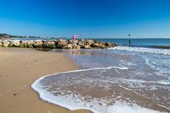 Spiaggia Dorset dei banchi di sabbia fotografie stock