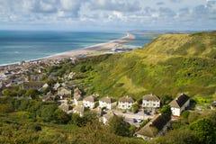 Spiaggia Dorset di Chesil e di Portland Immagine Stock