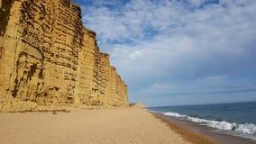 Spiaggia Dorset di Westbay Il Regno Unito Fotografia Stock Libera da Diritti