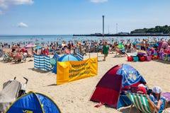 Spiaggia Dorset Inghilterra di Weymouth fotografia stock libera da diritti