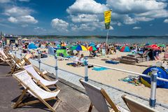 Spiaggia Dorset Inghilterra di Weymouth fotografia stock