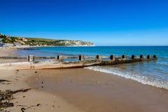 Spiaggia Dorset Inghilterra Regno Unito di Swanage immagini stock libere da diritti