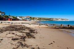 Spiaggia Dorset Inghilterra Regno Unito di Swanage immagini stock