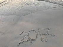 Spiaggia durante l'anno 2017 Fotografia Stock