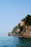 Spiaggia durante l'estate, Napoli, Italia di Positano Immagine Stock Libera da Diritti