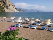 Spiaggia e baia della Turchia Turunc Fotografia Stock