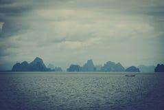 Spiaggia e barche, mare delle Andamane Immagine Stock Libera da Diritti