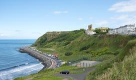 Spiaggia e castello del nord di Scarborough Fotografia Stock Libera da Diritti