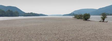 Spiaggia e cespugli Fotografie Stock Libere da Diritti