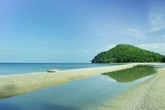 Spiaggia e cielo Immagini Stock Libere da Diritti