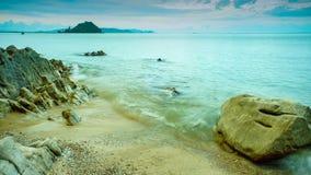 Spiaggia e cielo Fotografia Stock Libera da Diritti