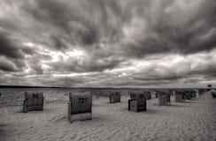Spiaggia e cielo di Laboe Fotografie Stock Libere da Diritti