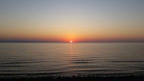 Spiaggia e cielo di tramonto Immagine Stock Libera da Diritti
