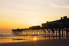 Spiaggia e costruzioni della Florida Fotografia Stock
