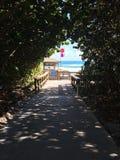 Spiaggia e costruzioni della Florida Immagini Stock