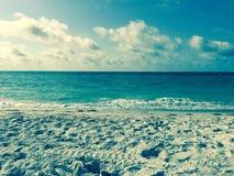Spiaggia e costruzioni della Florida Fotografia Stock Libera da Diritti