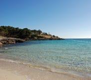 Spiaggia e faro Fotografia Stock