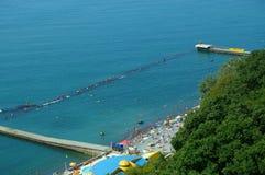 Spiaggia e mare di estate Fotografia Stock Libera da Diritti