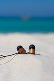 Spiaggia e mare tropicale Fotografie Stock