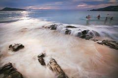Spiaggia e mare tropicale Fotografia Stock