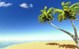 Spiaggia e palme Fotografia Stock Libera da Diritti