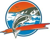 Spiaggia e pesce Fotografia Stock Libera da Diritti