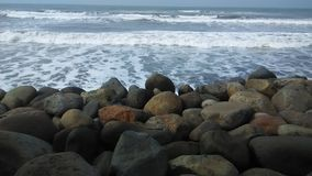 Spiaggia e pietra Fotografia Stock