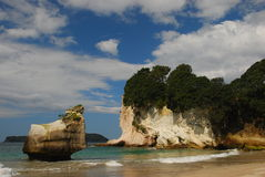 Spiaggia e rocce Immagini Stock