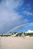Spiaggia ed arcobaleno di Anguela Fotografia Stock Libera da Diritti