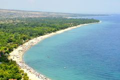 Spiaggia ed il mar Mediterraneo Immagini Stock