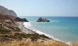 Spiaggia ed il mare, Cipro Immagini Stock Libere da Diritti