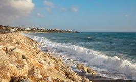 Spiaggia ed il mare, Cipro Fotografia Stock